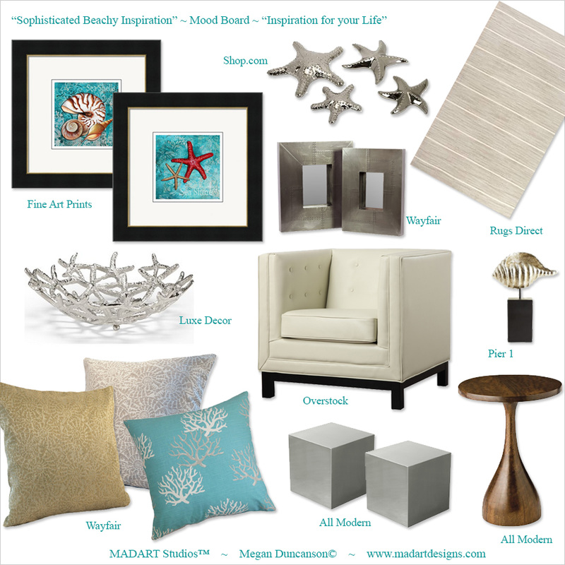 coastal Interior Design Mood Board