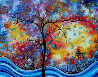 Abstract PoP Art Landscape Painting