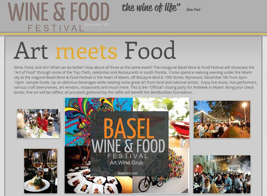Art Basel 2015 Wine and Food Festival
