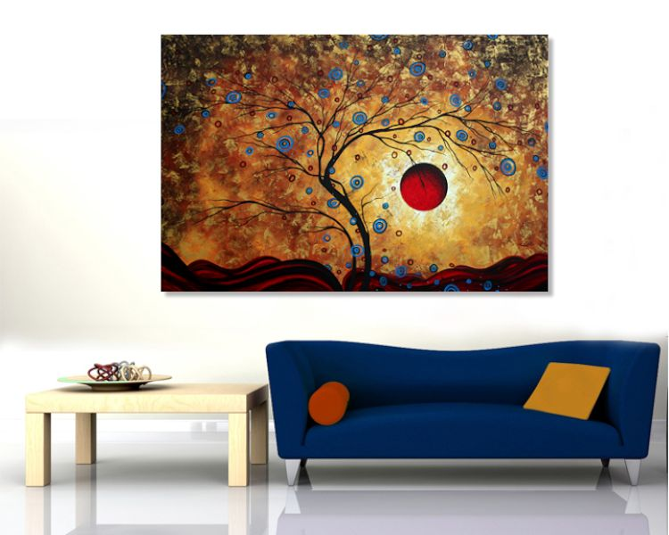 Huge Oversized Original PoP Art Painting Room Setting